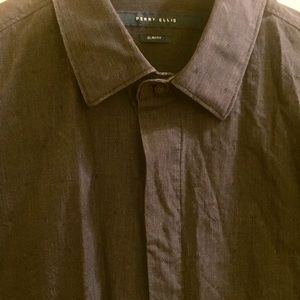 Perry Ellis, gray patterned, S